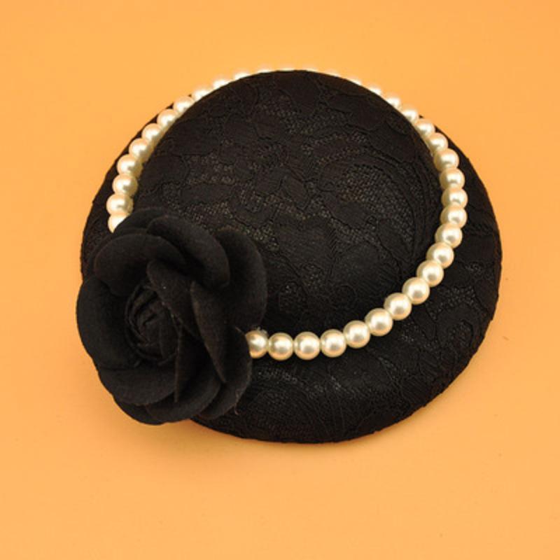 Damene ' Nydelig/Elegant/Utsøkt Blonder/Imitert Perle med Imitert Perle/Blomst Fascinators