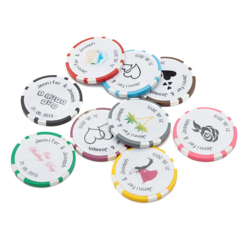 Personlig Harpiks Poker Chip (Sett Av 50)