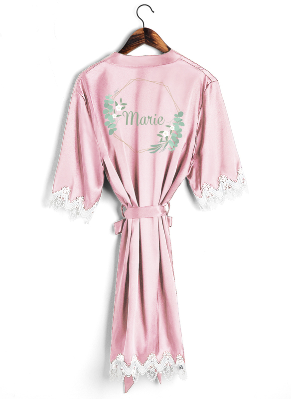 Personlig charmeuse Brud Brudepike Mamma Junior brudepike Rroba dantella Rrobat e qëndisura
