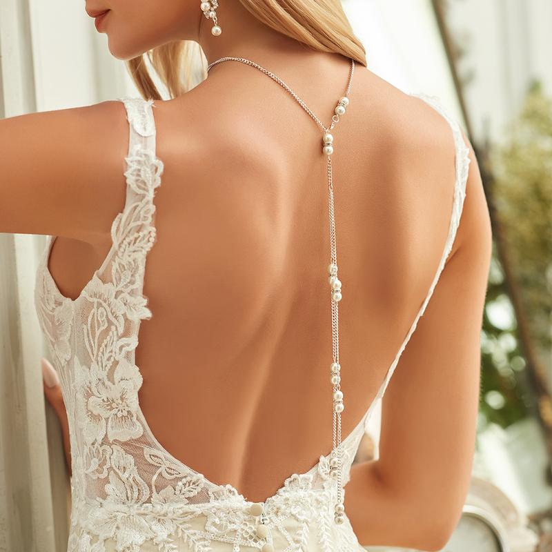 Elegant Imitert Perle med Imitert Perle Damene ' Halskjeder
