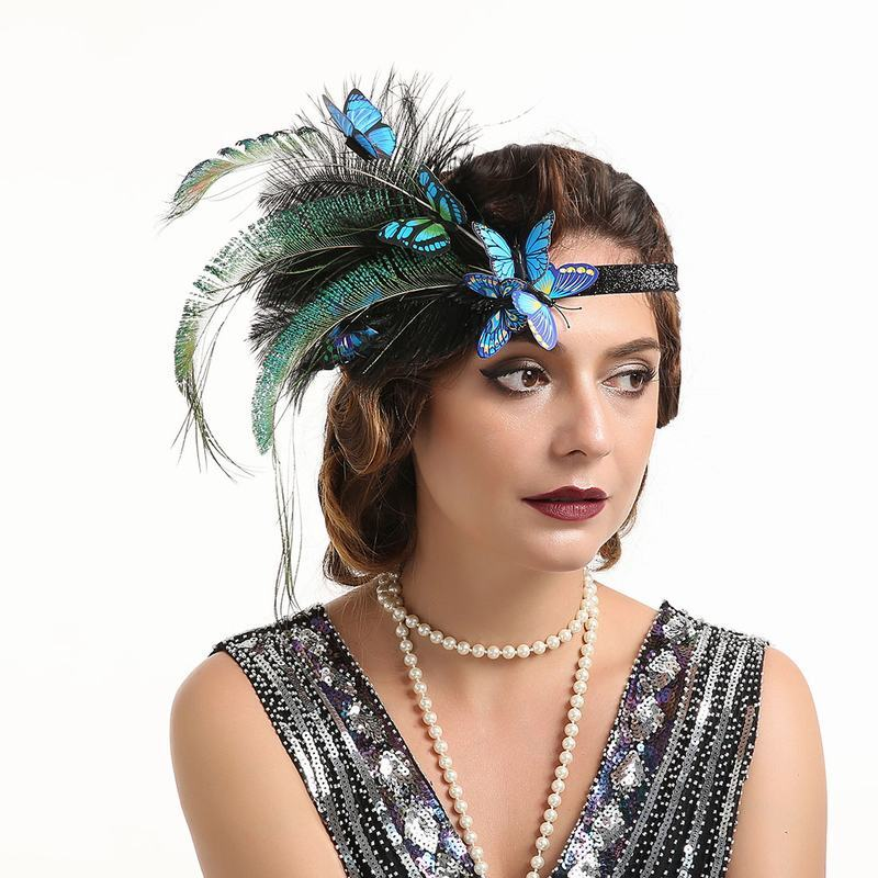Damene ' Glamorøse/Unik/Utrolig/Iøynefallende Fjær med Fjær Fascinators/Kentucky Derby Hatter/Tea Party Hats