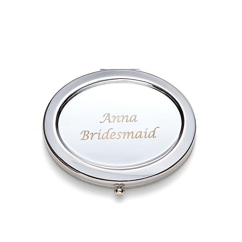 Brudepike Gaver - Personlig Vakkert Klassisk Stil Elegant Rustfritt Stål Lommespeil