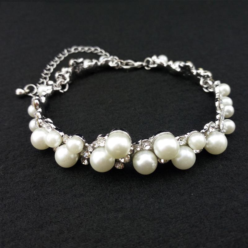 Classic Alloy/Rhinestones/Imitation Pearls Ladies' Bracelets