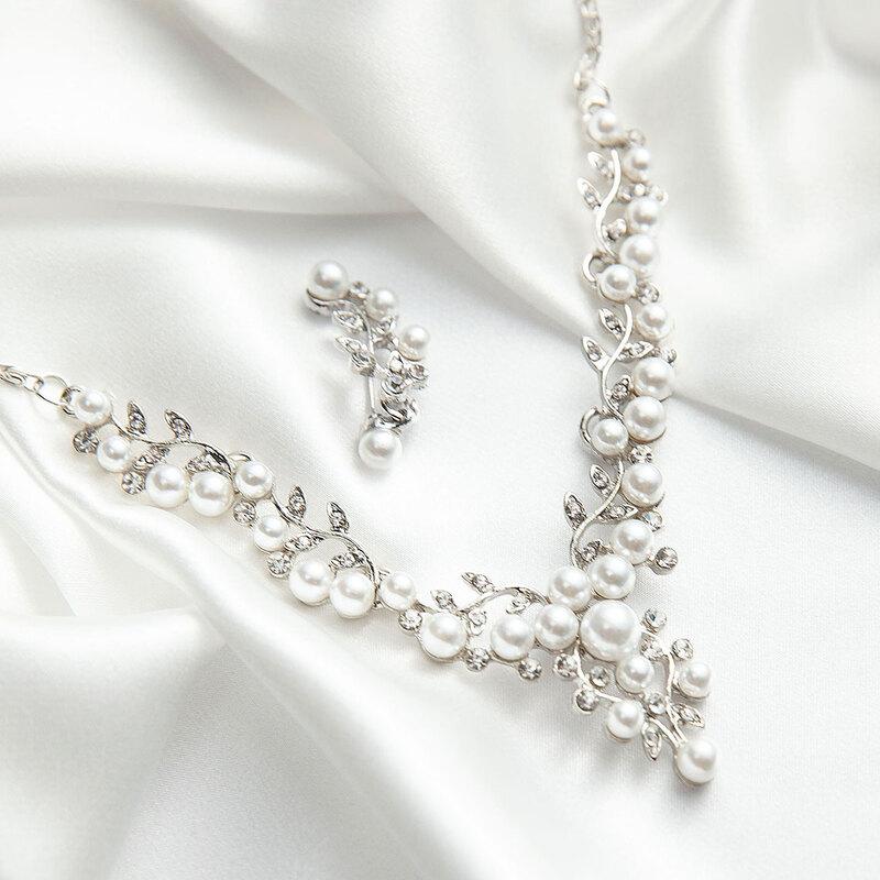 Legering/Rhinestones/Imitert Perle med Rhinestone/Imitert Perle Damene ' Smykker Sett