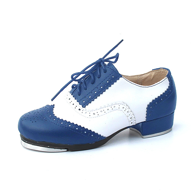Unisex Microfiber Leather Flats Tap Dance Shoes