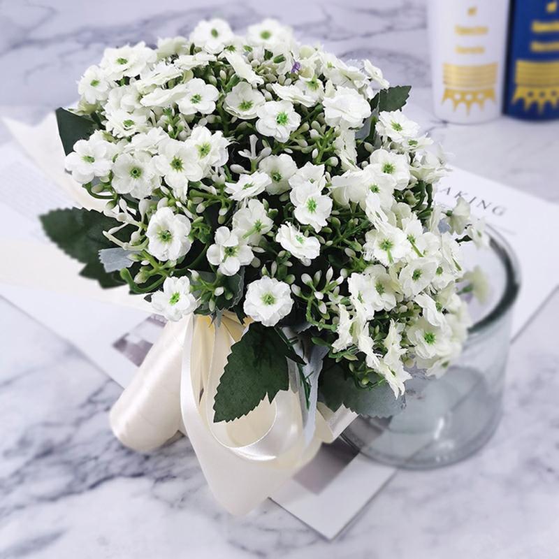 Klassisk stil Hånd Bundet Bånd/Silke blomst Brude Buketter (som selges i et enkelt stykke) - Brude Buketter