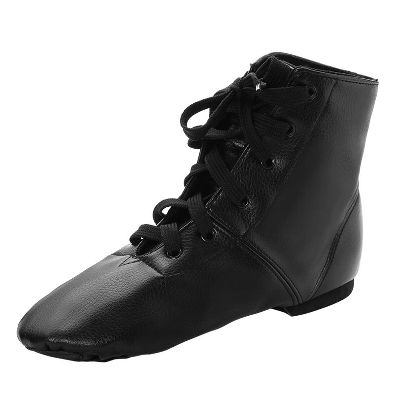 Unisexmodell Lær Flate sko Jazz Dansesko