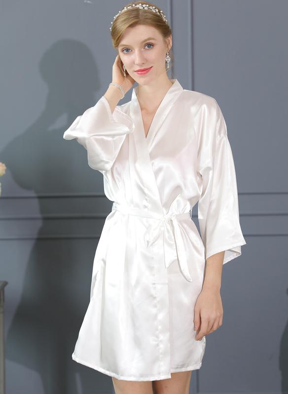Charmeuse Bride Bridesmaid Blank Robes
