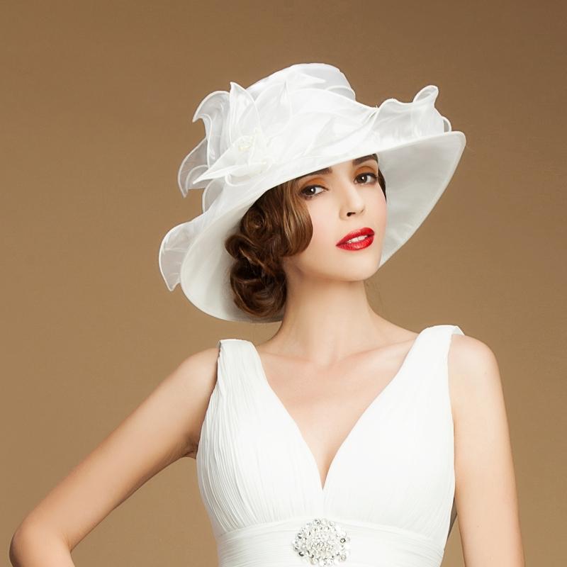 Damene ' Vakkert Organza Stiv / Cloche Hatt/Kentucky Derby Hatter/Tea Party Hats