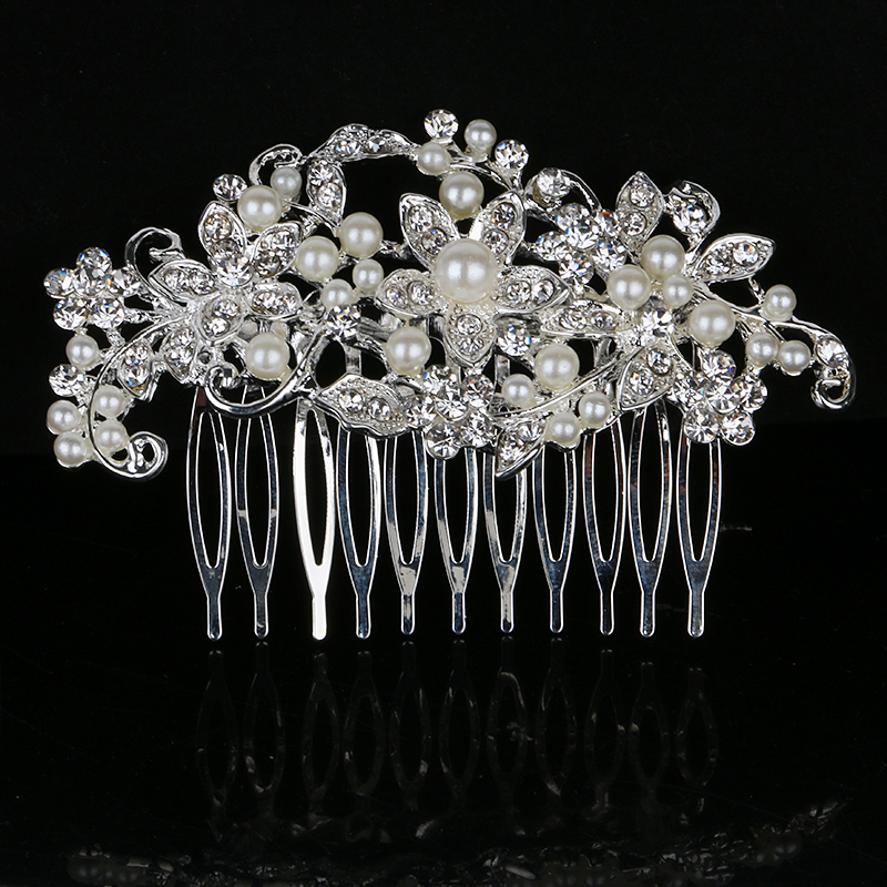 Elegant Rhinestone/Legering/Imitert Perle Kammer og Barrettes