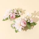 Vakkert Silke blomst/Frostet blomst Tiaraer/Blomsterpike Hodestykke/Kammer og Barrettes/Blomster og Fjærene (Sett med 2)