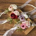 Girly Silk linen Wrist Corsage/Boutonniere - Wrist Corsage/Boutonniere
