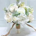 Enkle og Elegante Rund Kunstige Blomster Brude Buketter (som selges i et enkelt stykke) -