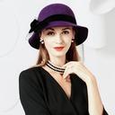 Damene ' Spesielle Ull med Bowknot Stiv / Cloche Hatt