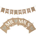 """Mr. & Mrs."" Hemp Rope/Sengetøy Banner (8 stk)"
