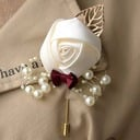 Hand-tied Satin Boutonniere (Sold in a single piece) -