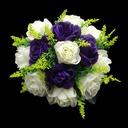Eye-catching Round Satin Bridesmaid Bouquets