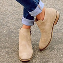 Kvinner Semsket Flat Hæl Ankelstøvler med Glidelås sko