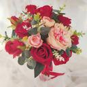 Klassisk stil Hånd Bundet Satin/Bånd/Silke blomst/Kunstige Blomster Brude Buketter/Brudepike Buketter (som selges i et enkelt stykke) - Brude Buketter/Brudepike Buketter