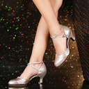 Women's Leatherette Heels Ballroom Swing Dance Shoes