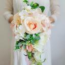 Klassisk stil Hånd Bundet Organza/Bånd/Silke blomst Brude Buketter (som selges i et enkelt stykke) - Brude Buketter
