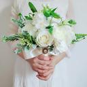 Klassisk stil Hånd Bundet Silke blomst/Sengetøy tauet Brude Buketter (som selges i et enkelt stykke) - Brude Buketter