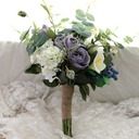 Blooming Free-Form Silk/Cloth Bridesmaid Bouquets -