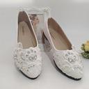 Kvinner Lær Flat Hæl Flate sko med Rhinestone Applikert