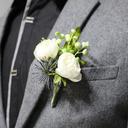 Low-key Cascade Silk Flower Wrist Corsage/Boutonniere -