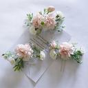 Vakkert Silke blomst Tiaraer (Sett med 3)
