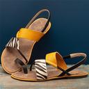 Kvinner Lær Flat Hæl Sandaler Titte Tå med Delt Bindeled sko