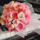 Klassisk stil Hånd Bundet Satin/Tyll/Silke blomst/Kunstige Blomster Brude Buketter/Brudepike Buketter (som selges i et enkelt stykke) - Brude Buketter/Brudepike Buketter