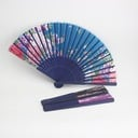 Floral Design Bamboo/Silk Hand fan
