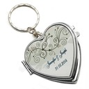 Groomsmen Gifts - Personalized Classic Elegant Stainless Steel Keychain