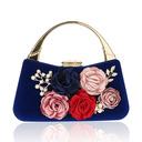 Elegant Velvet Clutches/Wristlets/Satchel/Top Handle Bags/Bridal Purse