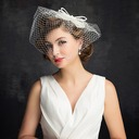 Damene ' Sjarm Imitert Perle/Tyll med Imitert Perle/Bowknot/Tyll Fascinators/Kentucky Derby Hatter/Tea Party Hats