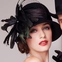 Damene ' Glamorøse Ull/Netto Garn med Fjær Stiv / Cloche Hatt/Kentucky Derby Hatter