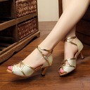 Women's Leatherette Sandals Pumps Latin Party With Hollow-out Dance Shoes