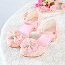 Jentas Lukket Tå Leather Flower Girl Shoes med Bowknot