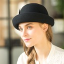 Damene ' Mote/Glamorøse/Jobb Ull Diskett Hatt
