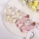 Jentas Titte Tå Microfiber Lær lav Heel Flower Girl Shoes med Profilering Paljetter