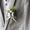 Low-key Silk Flower Boutonniere -