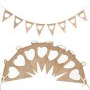 Heart Shaped Hemp Rope/Linen Banner (8 Pieces)