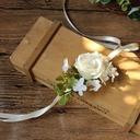 Lovely Silk linen Wrist Corsage/Boutonniere - Wrist Corsage/Boutonniere