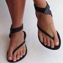 Kvinner Lær Flat Hæl Sandaler Flate sko med Annet sko