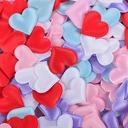 Heart Shaped Satin Sponge Confetti (set of 100)