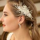 Damer Elegant Legering/Imitert Perle/Voile Kammer og Barrettes med Venetianske Perle (Selges i ett stykke)