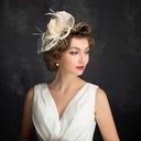 Damene ' Klassisk stil Fjær/Netto Garn/Tyll/Sengetøy med Fjær Fascinators/Kentucky Derby Hatter/Tea Party Hats