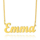 Custom 18k Gold Plated Letter Name Necklace - Birthday Gifts Mother's Day Gifts