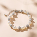 Damene ' Stilig Rhinestones/Imitert Perle Armbånd